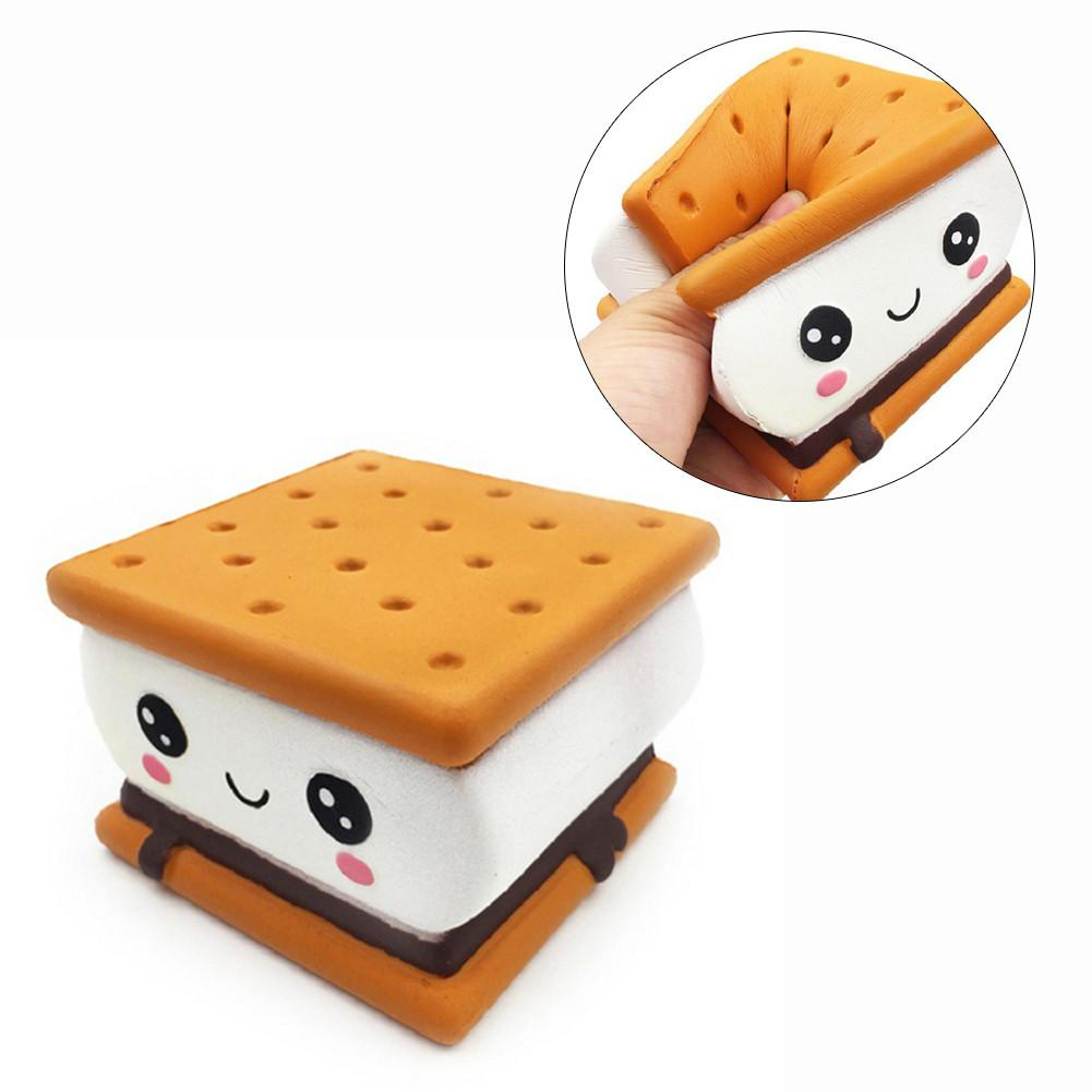 Chocolate Cake 11.5cm Chocolate Cake Squishy Slow Rebound Squeeze Toy Soft Cute Waffle Healing Funny Sensory Toys For Kids