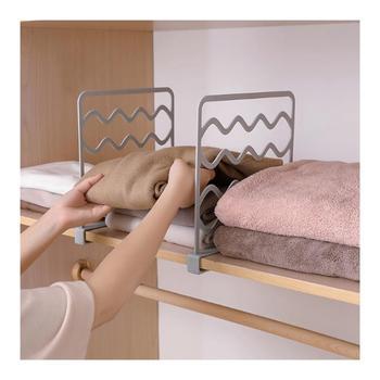 1 sztuk z tworzywa sztucznego półka dzielniki szafa do przechowywania warstwami Separator płyta błotnik szafy półki szafka na pudełko organizer odzieży