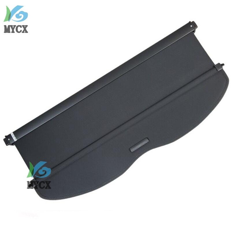 Couverture de cargaison de bouclier de sécurité de coffre arrière d'alliage d'aluminium + tissu pour Nissan Qashqai J11 2014 2015 2016 accessoires de voiture - 2