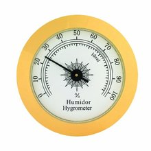 Mosaic Hygrometer 49mm Moisture Meters Cigar Accessories Tobacco Pointer for Humidor Smoking Humidity Sensitive Gauge