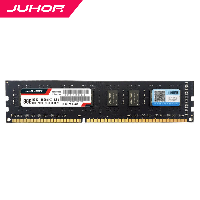 Juhor Desktop Ram <font><b>DDR3</b></font> 4gb <font><b>8gb</b></font> 1600MHz CL11 12800 1.5v 240pin Compatible with AMD and <font><b>Intel</b></font> ddr 3 Years Warranty image