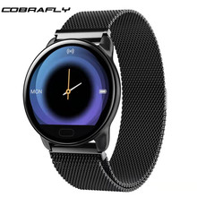 Cobrafly K9 Smart Watch Heart Rate Blood Pressure Monitor Fitness Tracker IP67 Waterproof Smartwatch for Men women pk Q9 B57(China)