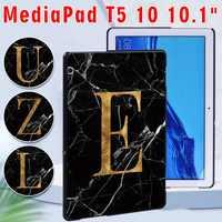 Funda de tableta para Huawei MediaPad T5 10, 10,1 pulgadas, anticaída, Blackmarble Series, trasera, Stylus gratis