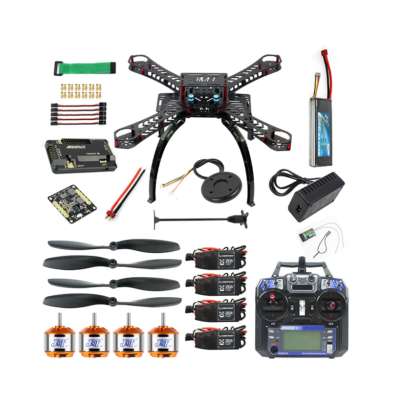 Full Drone Kit Made With Fiberglass Frame Kit Material And LED Light