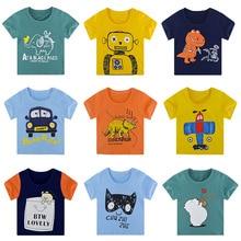 Clothing T-Shirt Girls Baby-Boys New And Cartoon Short Summer Tee Tops Print Kids Children