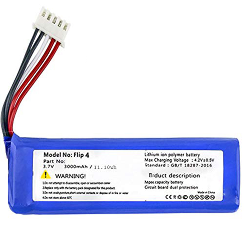 Replacement 3000Mah Li-Polymer Battery GSP872693 01 For JBL Flip 4, Flip 4 Special Edition
