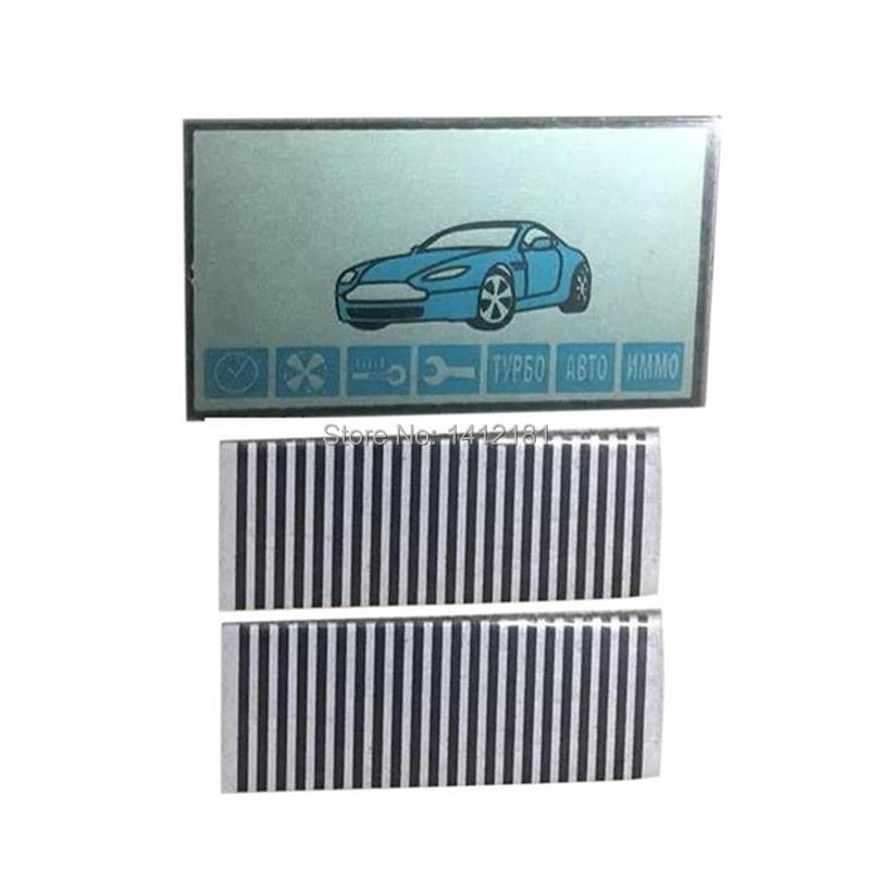 Keychain A91 LCD Display + Zebra Paper For Russian 2-way Starline A91 Lcd Remote Control Key Fob With Flexible Cable