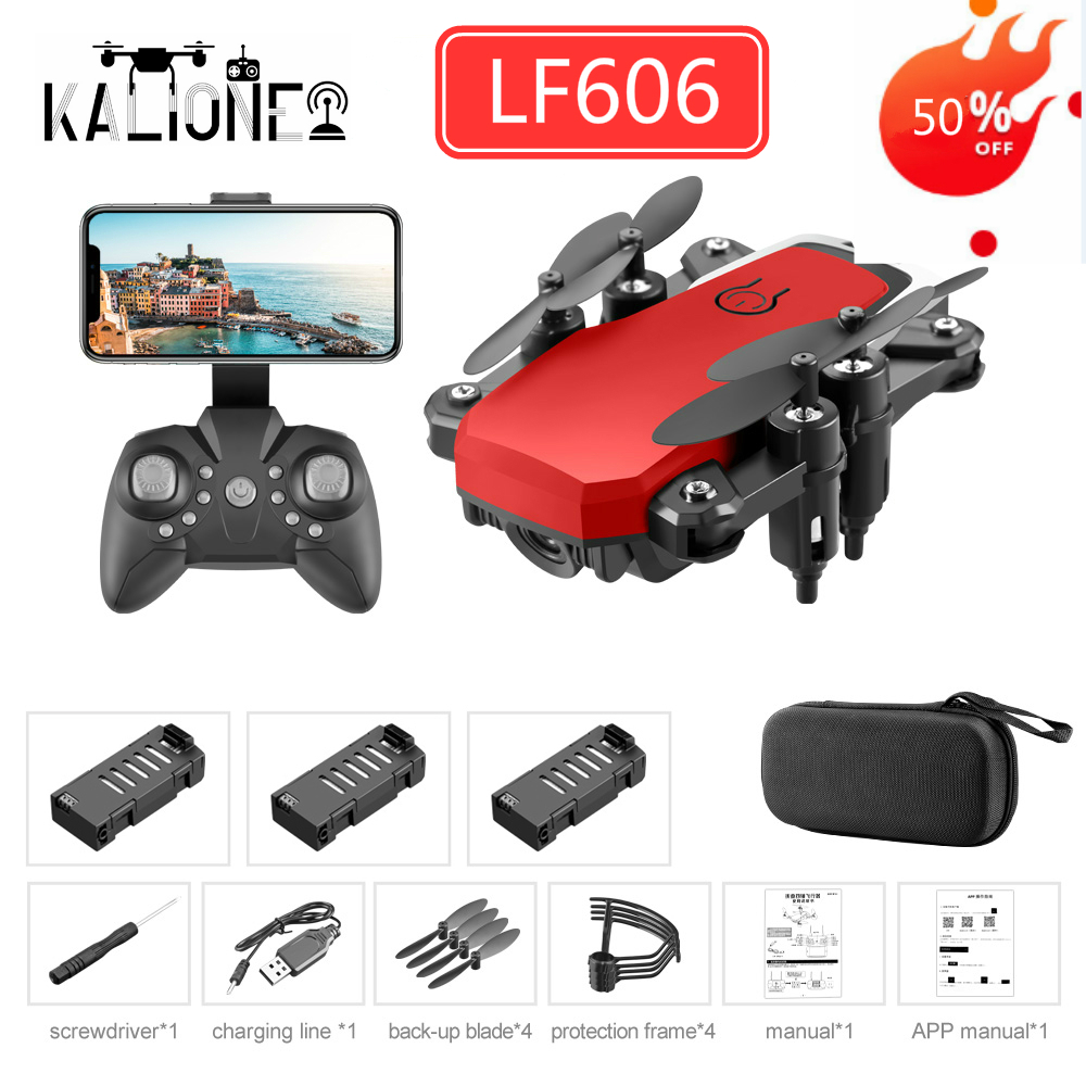 LF606 RC Drone Wifi FPV with 4K HD Camera Follow Altitude Hold 3D Flips RC Helicopter Mini pocket Aircraft gift for kid's