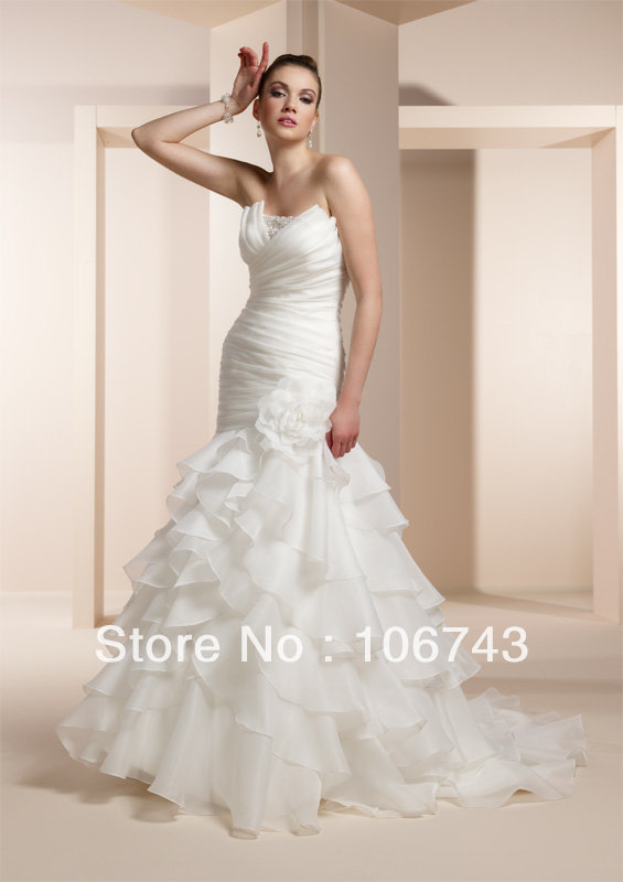 Free Shipping 2020 Vestido De Noiva Column Strapless Scoop Sweetheart White New Mermaid Bridal Gown Mother Of The Bride Dresses