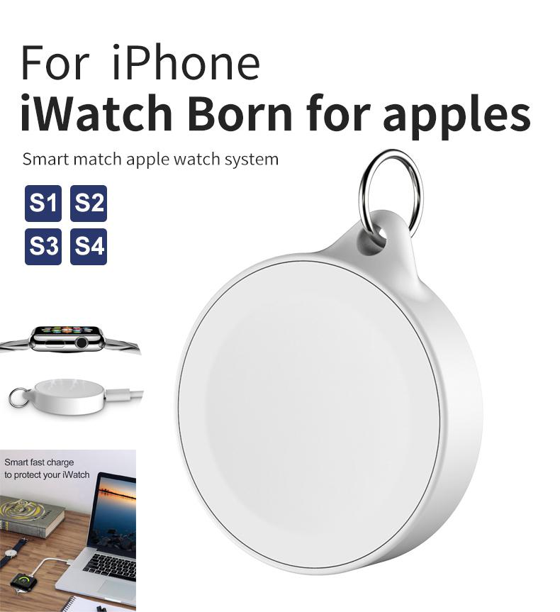 Small QI Wireless Charger for Apple Watch 1 2 3 4 Smart Watch Wireless Charging Portable