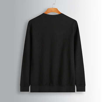 Spuer Brand Big Size Men's Wear Plus Fat plus Autumn Round Neck Rest Long Sleeve Loose Sweater Fat Man Pullover Sweater