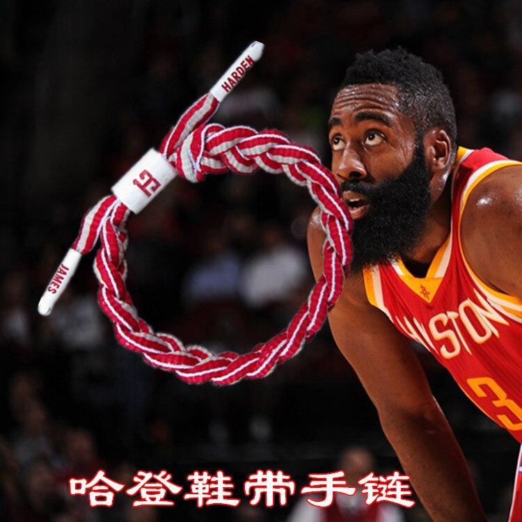 NBA Basketball Star Rockets Harden Athletic Shoe Laces Curry Westbrook Bracelet Wrist Strap Bracelet With Fans Ornaments