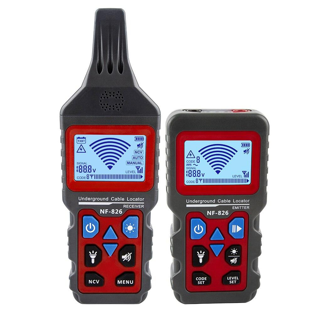 Noyafa NF-826 חוט Tracker נייד טלפון כבל איתור מחתרת צינור גלאי מקצועי כבל Finder