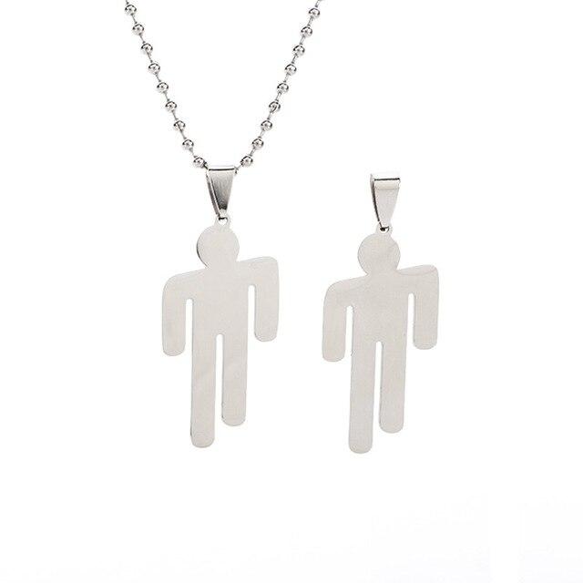 Rock americano música rapper cantor mau cara billy metal pingente colar chaveiro ícone humanóide jóias presente para os fãs