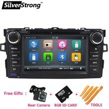 """SilverStrong """" сенсорный экран размер автомобильный DVD для Toyota Auris хэтчбек Поддержка рулевого колеса Функция управления"""