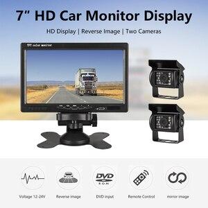 """Image 2 - JMCQ 7 """"TFT LCD Verdrahtete Auto Monitor HD Display Wired Reverse Kamera Parkplatz System Für Auto Rück Monitore Für lkw mit 2 objektiv"""