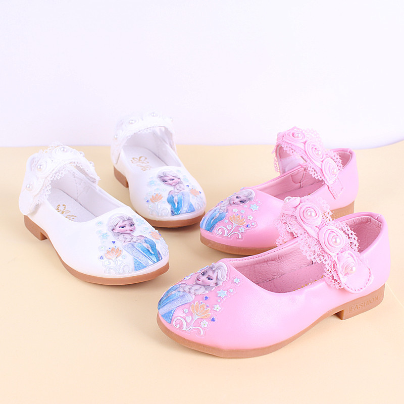 New Children's  2020 Princess Shoes Girls Dancing Shoes Pearl Lace  Shoes