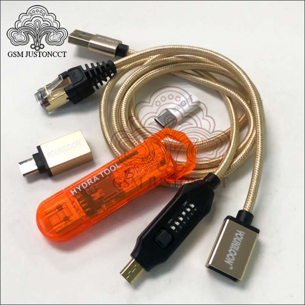 Newest Original Hydra Tool Dongle Is The Key For All HYDRA Tool Softwares + UMF ALL Boot Cable Set (EASY SWITCHING) & Micro