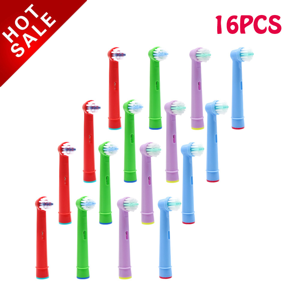 16pcs Replacement Kids Children Tooth Brush Heads For EB-10A Pro-Health Stages Electric Toothbrush image
