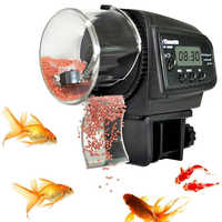 Aquarium 65mL Automatic Fish Feeder for Aquarium Fish Tank Auto Feeders with Timer Pet Feeding Dispenser LCD Display Fish Feeder