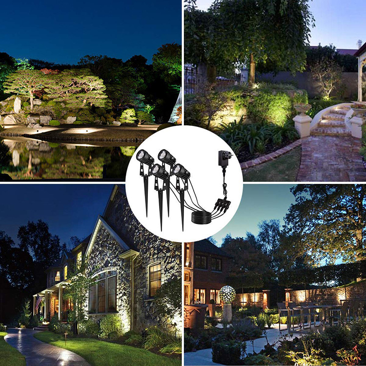 LED Pin Light Lawn Light One Dragging Four Spotlight LED Floodlight Led One to Six Courtyard Lights One Dragging Four Grass 6