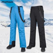 PHMAX hiver Ski pantalon hommes Ski bavoir pantalon coupe-vent extérieur Snowboard chaud pantalon thermique course à pied patinage de neige Ski pantalon