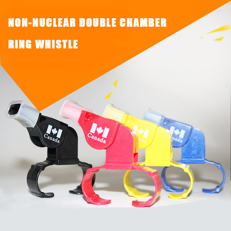 Nuclear-free High Frequency Dolphin Referee Whistle Plastic Finger Ring Skate Survival Soccer Outdoor Football Match Dedicated