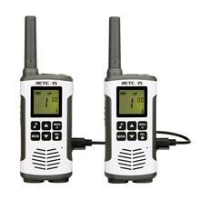 Retevis Walkie Talkie portátil RT45, 0,5 W, PMR PMR446 FRS VOX, Radio práctica bidireccional, uso familiar de emergencia para Motorola TLKR T50, 2 uds.