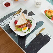 4PCS Table Mats for Dining Table Coasters Table Mats Non-Slip Printed Heat-insulated Pad Kitchen Accessories Decoration Home artificial leather placemats non slip placemats bowls coasters waterproof table mats heat insulated table mats