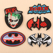 Batman Joker Carta di Bandiera Americana Batman Funko Legione Di Collezionisti di Batman Vs Superman Wonder Woman Ricamato patch(China)