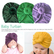 11 Colors Infant Headbands Solid Cotton Kont Turban Headband For Girls Spandx Stretchy Beanie Hat Headwear Baby Hair Accessories