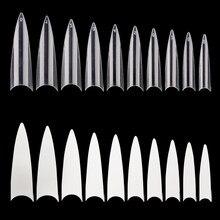 10-500pc paznokcie, ekstremalne szpilki, jasne końcówki, jasne fałszywe paznokcie, jasne fałszywe paznokcie, zrób to na zestaw domowy, rozpieszczaj paznokcie, G434ere