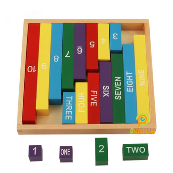 Montessori Toys Small Numerical Rods  Wooden Materials to Learn Number 1 Through 10 Math for Kids Preschool Early Education