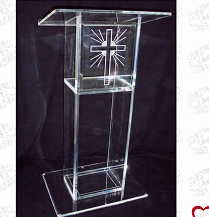 Free Shipping Hot Sell Simple Cheap Acrylic Lectern/ Acrylic Podium Pulpit Lectern/ Acrylic Lectern