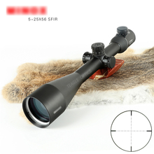 Hunting Optic 5-25X56SFIR  Riflescope Side Parallax Optic Sight Rifle Scope for PCP for Airsoft for Airgun Scope with red light free shipping hot sale 4 16x40 hunting optic accessory sight air gun rifle scope shooting aiming riflescope for airsoft weapons