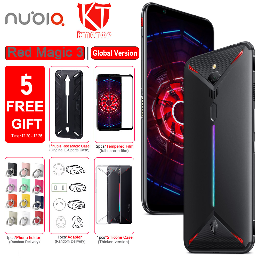 Global Version Original ZTE Nubia Red Magic 3 3S Mobile Phone 8G/12G 128/256G 6.65