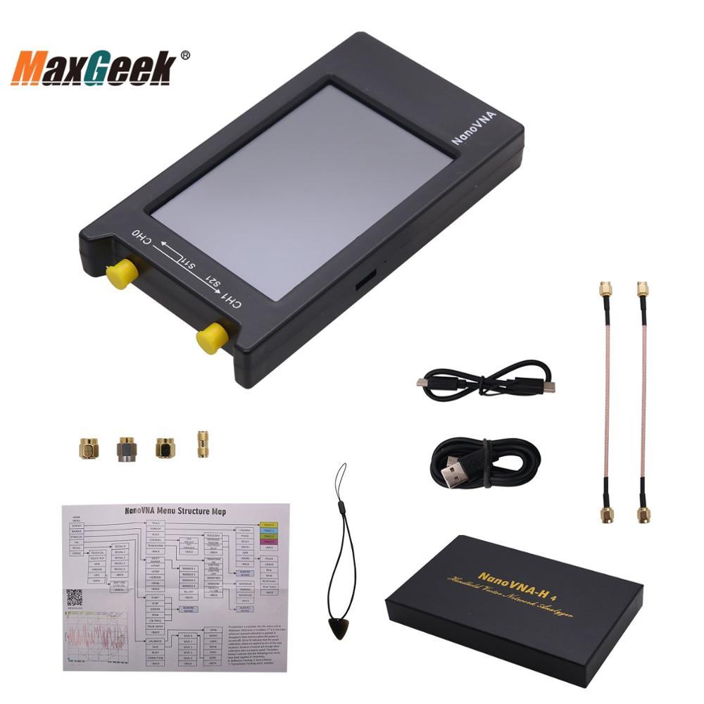 """Maxgeek 50KHz-1.5GHz Vector Network Analyzer NanoVNA Vector w/ 4"""" LCD Display For UHF Antenna NanoVNA-H4"""