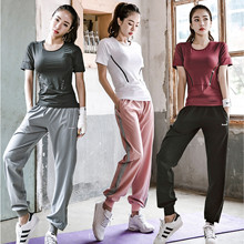 2019, the new summer sports fitness clothing loose yoga running female suit