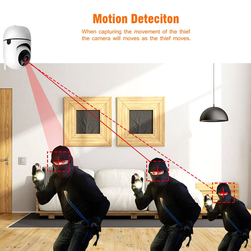 H9b47901684e64622b8a257ff6ef6d185k wdskivi Auto Track 1080P IP Camera Surveillance Security Monitor WiFi Wireless Mini CCTV Indoor Camera YCC365 Plus