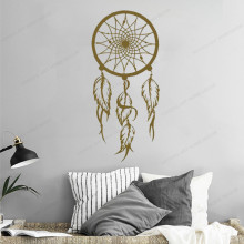 Feather Dream Catcher Wall Decal dream catcher wall vinyl sticker for home decor bedroom  removable art mural HJ545 colorful dream catcher flying feather wall stickers symbol home decor bedroom accessories living room decal mural art poster