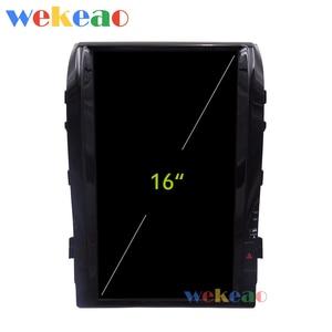 Image 3 - Wekeao Vertical Screen Tesla Style 16 Android 9.0 Car Radio GPS Navigation For Toyota Land Cruiser Car DVD Player 2008 2015