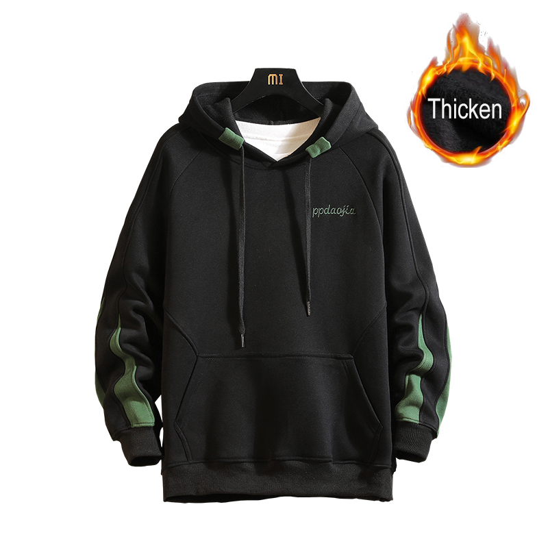 Autumn Winter Hoodies Men Pullover Thicken Jacket With Hat Men Streetwear Sweatshirts Skateboard Hoodies Male Brand