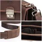 Контактная Ретро Мужская сумка Crazy Horse кожаный мужской портфель сумка для ноутбука 14 дюймов мужские деловые сумки на плечо большая ВМЕСТИТЕЛЬНОСТЬ - 6
