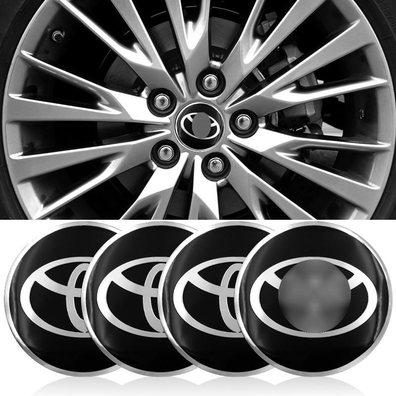 Tapas de cubo de rueda de 56,5mm, 4 Uds., pegatina a prueba de polvo para Toyota Corolla Rav4 Yaris Avensis Auris Camry c-hr 86 Prius