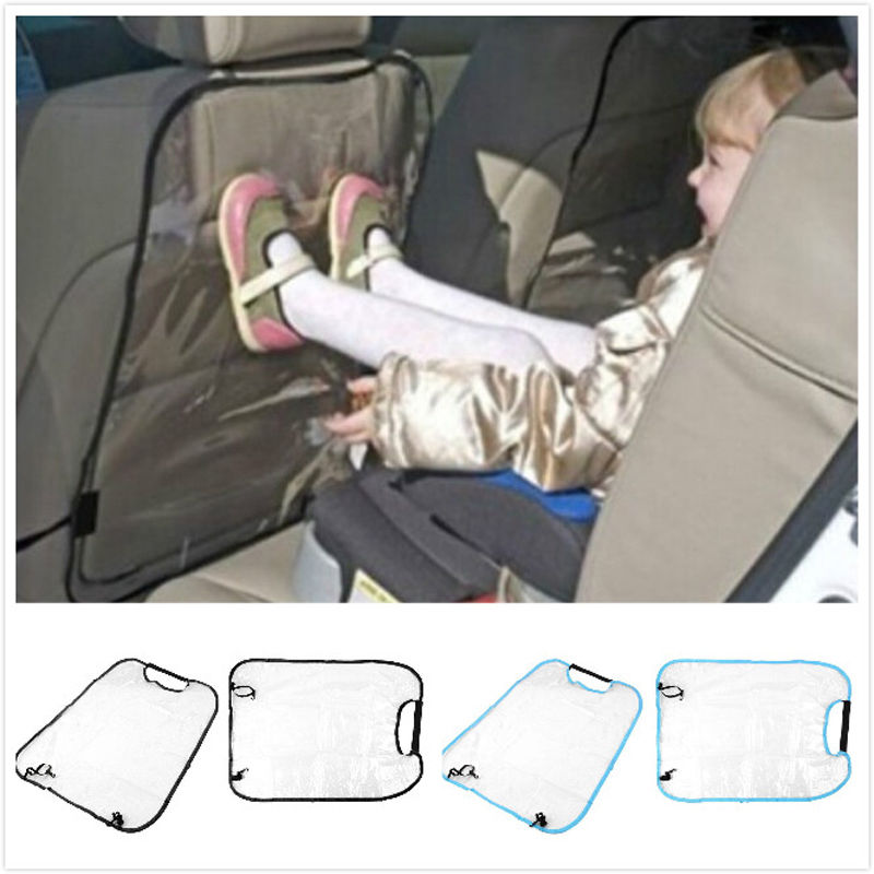 Anti Stepped Dirty Car Seat Back Protector Cover For Children Babies Kick Mat Protects Chair Cover Auto Clear Mat