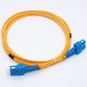 Image 3 - 10 шт. волоконно оптический патч кабель SC/UPC SC/UPC одномодовый дуплексный волоконно оптический патч корд 3 м 3,0 мм SC SC волоконно оптическая Перемычка кабель