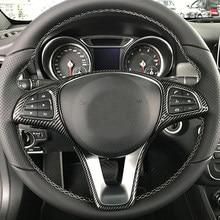 Garniture de cadre de volant de voiture, pour Mercedes Benz A B C E GLA CLA GLC GLS GLE classe V W176 W246 W205 W213 W117 C117 X156 X253 W447