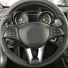 Coche para marco de volante ajuste para Mercedes Benz A B C E GLA La CIA GLC GLS sobre las clase V W176 W246 W205 W213 W117 C117 X156 X253 W447