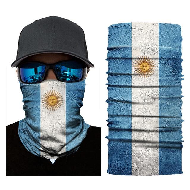 Seamless Balaclava National Flag Bandanas Face Mesh Shield 3