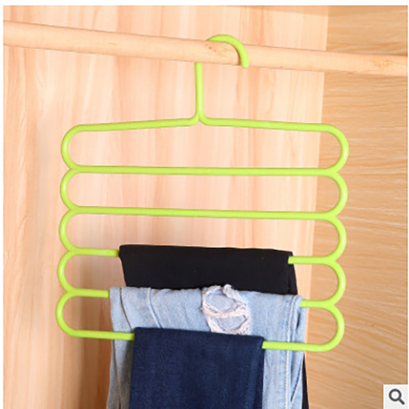 5 layer plastic creative 3D Space saving Multi use magic clothes tie belt sock trousers Hanger rack closet organizer for travel
